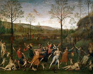 El Perugino. El Combate entre el Amor y la Castidad