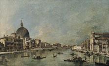 Francesco Guardi. Gran Canal con San Simeone Piccolo y Santa Lucía