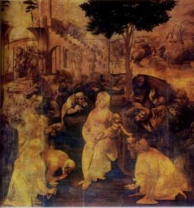 Leonardo da Vinci La Adoracion de los Magos