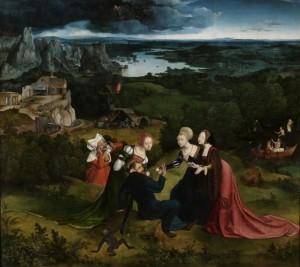 Patinir Quentin Metsys. Las tentaciones de San Antonio abad