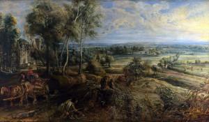 Rubens. Vista de Het Steen al amanecer