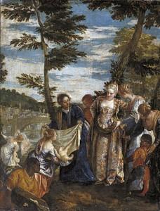 Veronés. Moisés salvado de las aguas