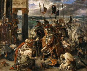Los Cruzados entran en Constantinopla DelaCroix